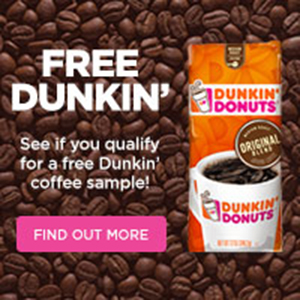 Free Dunkin Donuts Samples!