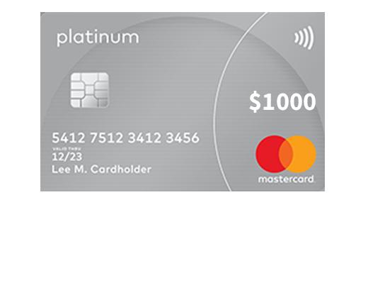 $1000 MasterCard Platinum (US) (Incentive)