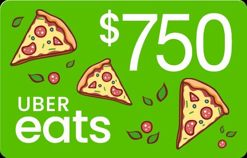 Uber Eats $750